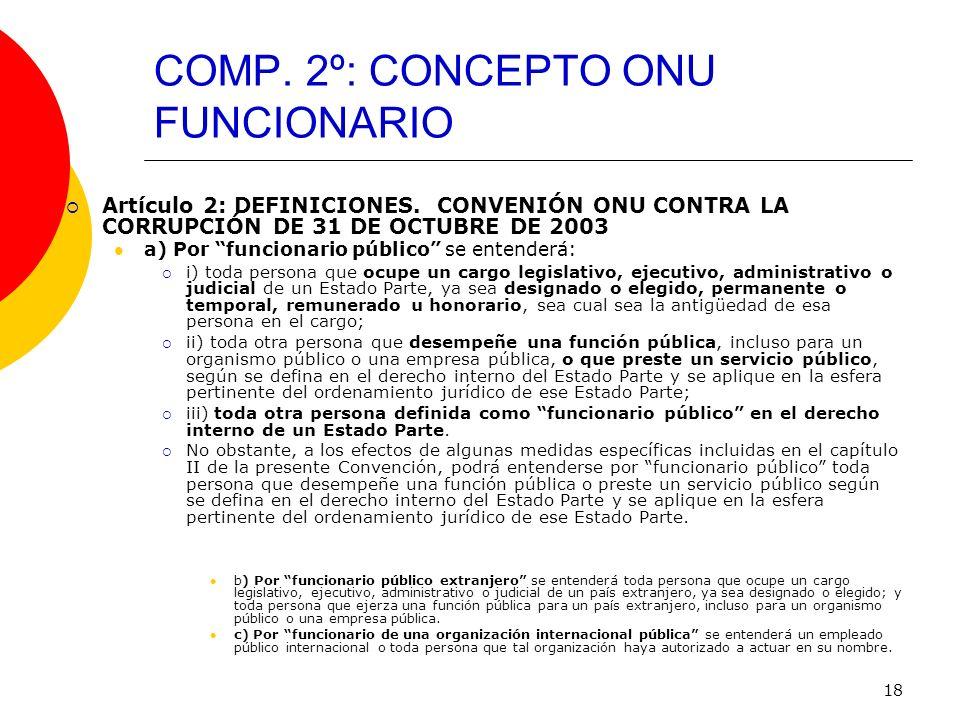 COMP. 2º: CONCEPTO ONU FUNCIONARIO