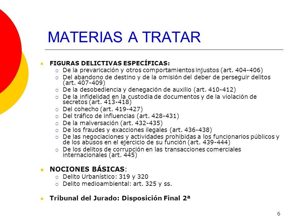 MATERIAS A TRATAR NOCIONES BÁSICAS: