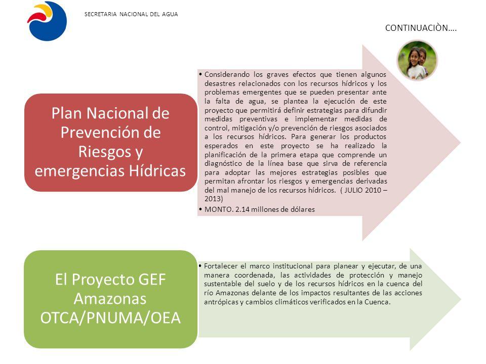 Plan Nacional de Prevención de Riesgos y emergencias Hídricas