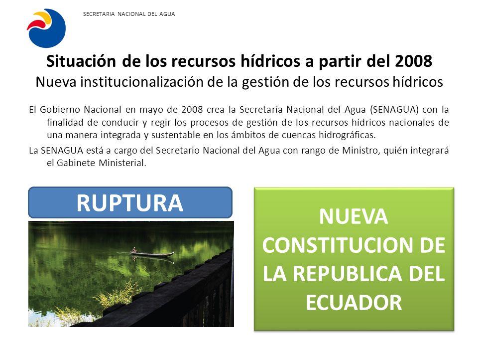 NUEVA CONSTITUCION DE LA REPUBLICA DEL ECUADOR
