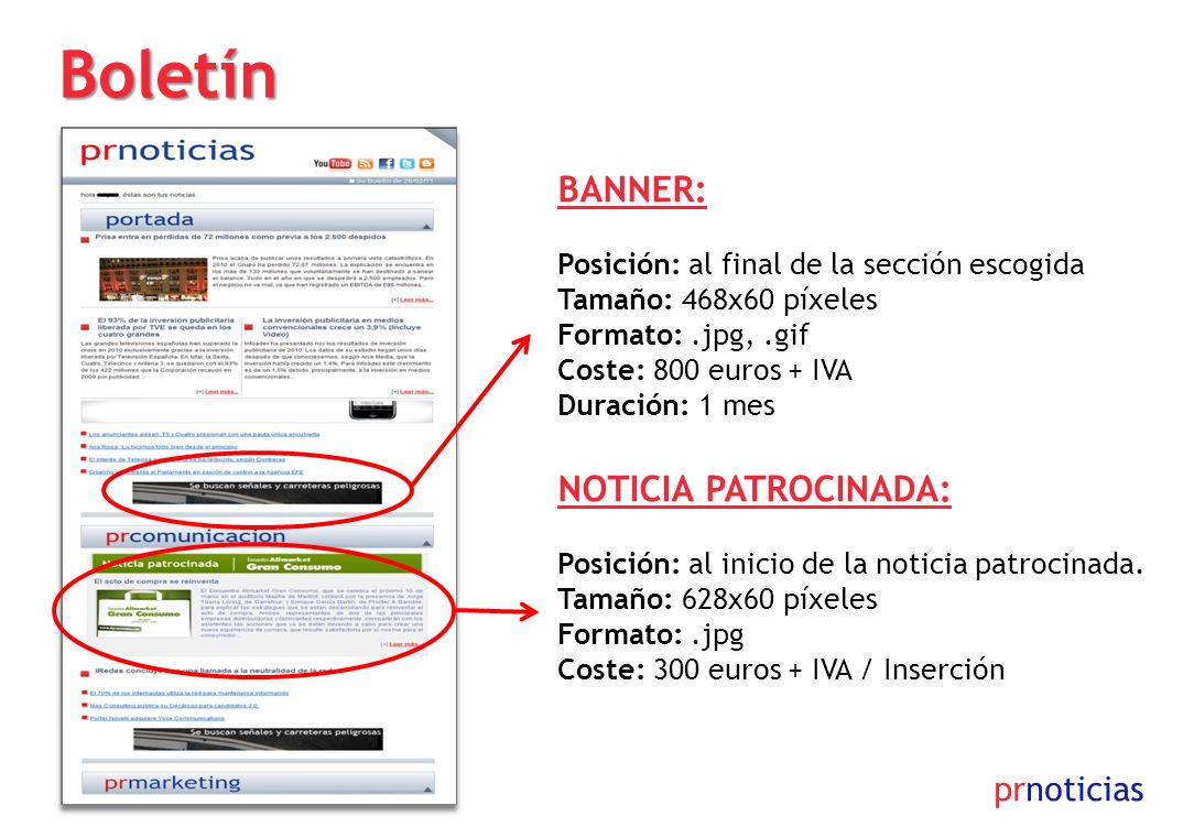 Boletín 300x90 BANNER: Noticia Patrocinada: prnoticias