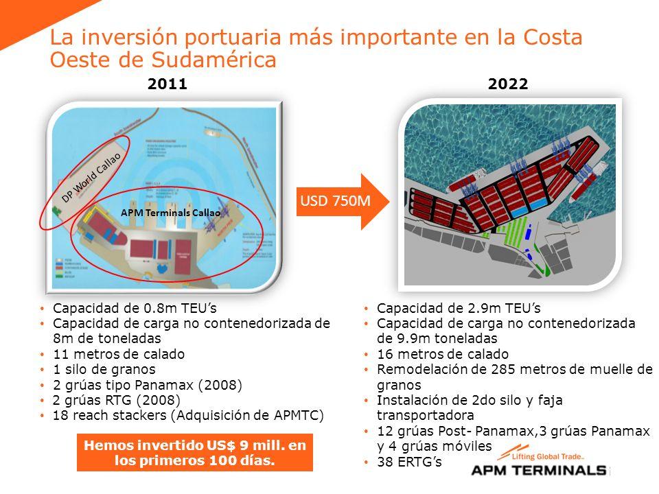 La inversión portuaria más importante en la Costa Oeste de Sudamérica
