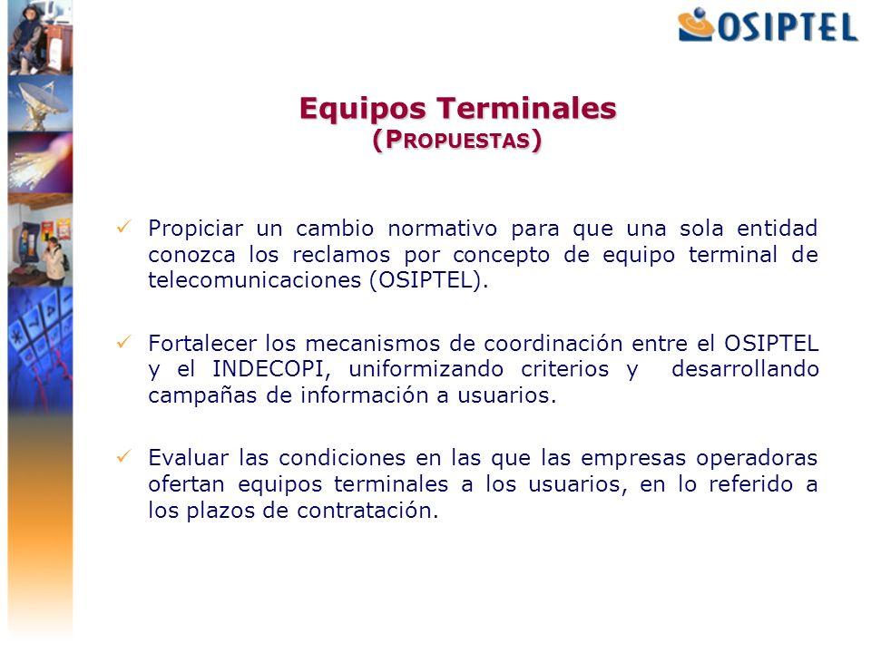 Equipos Terminales (Propuestas)