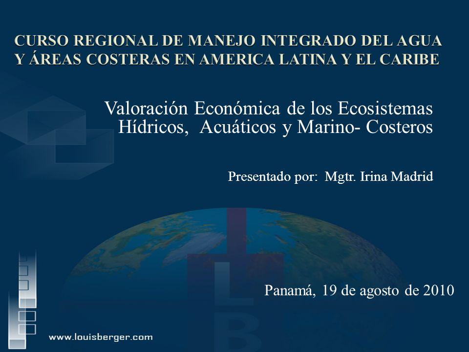 CURSO REGIONAL DE MANEJO INTEGRADO DEL AGUA Y ÁREAS COSTERAS EN AMERICA LATINA Y EL CARIBE