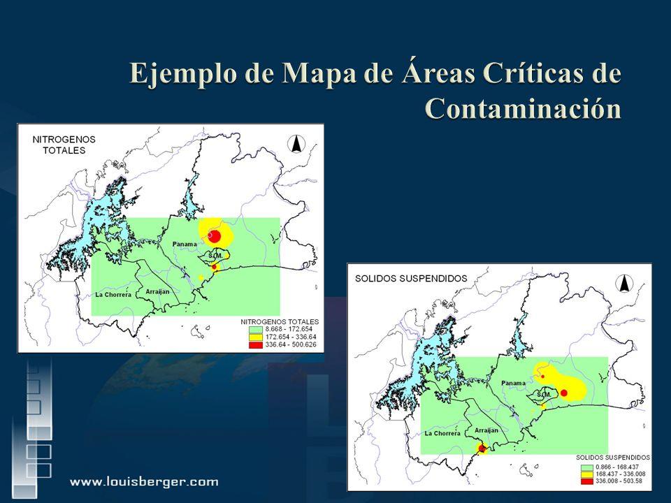 Ejemplo de Mapa de Áreas Críticas de Contaminación