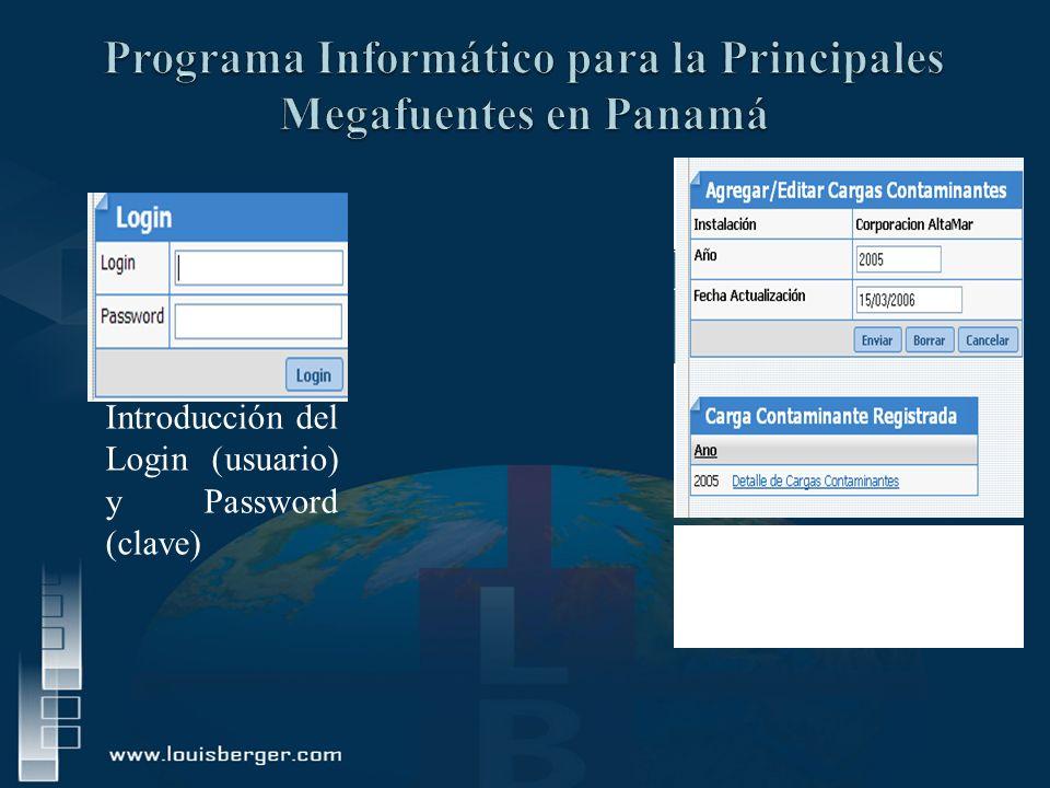 Programa Informático para la Principales Megafuentes en Panamá