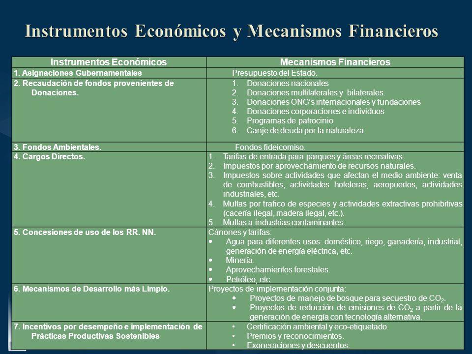Instrumentos Económicos y Mecanismos Financieros