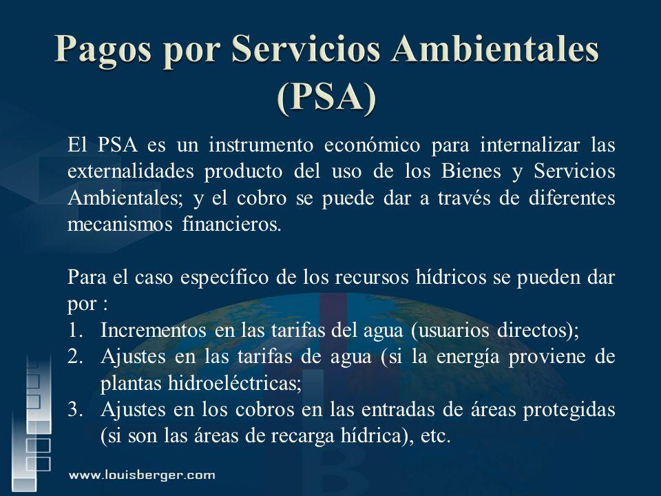 Pagos por Servicios Ambientales (PSA)