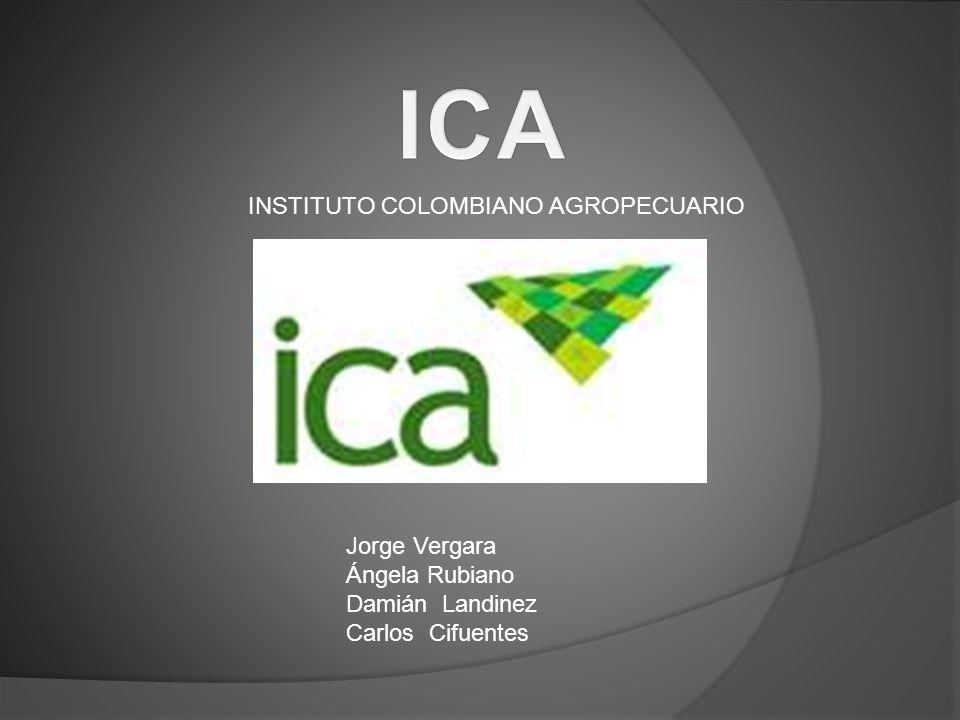 ICA INSTITUTO COLOMBIANO AGROPECUARIO Jorge Vergara Ángela Rubiano