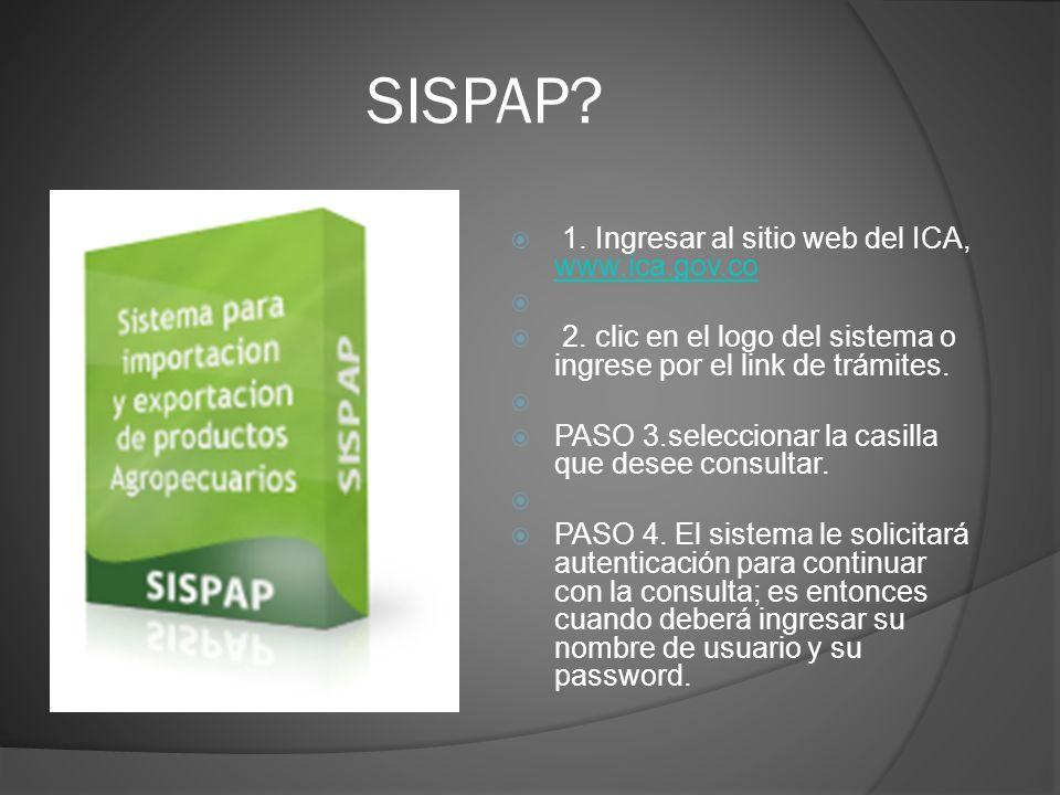 SISPAP 1. Ingresar al sitio web del ICA, www.ica.gov.co
