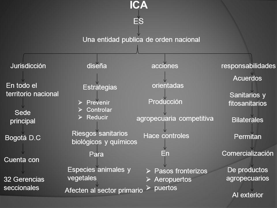 ICA ES Una entidad publica de orden nacional