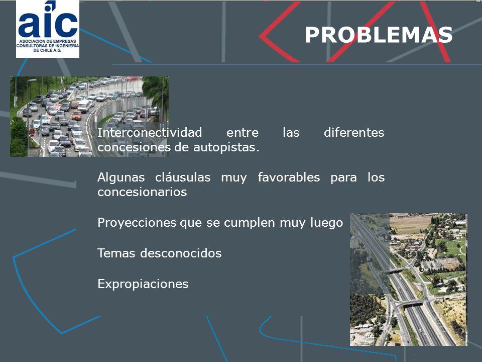 29-03-2017 PROBLEMAS. Interconectividad entre las diferentes concesiones de autopistas. Algunas cláusulas muy favorables para los concesionarios.