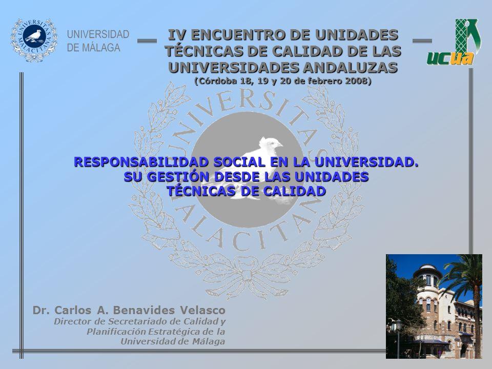 IV ENCUENTRO DE UNIDADES TÉCNICAS DE CALIDAD DE LAS UNIVERSIDADES ANDALUZAS (Córdoba 18, 19 y 20 de febrero 2008)