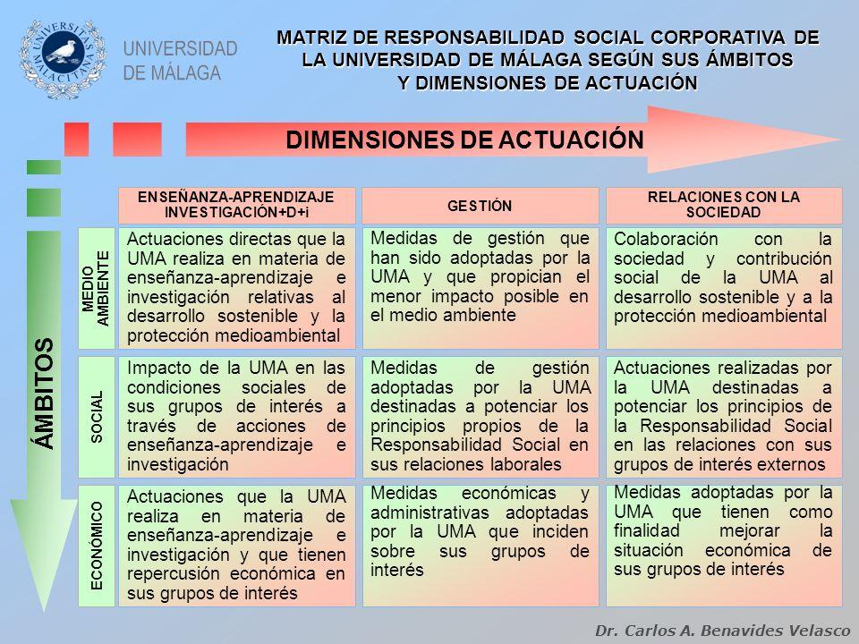 Y DIMENSIONES DE ACTUACIÓN DIMENSIONES DE ACTUACIÓN