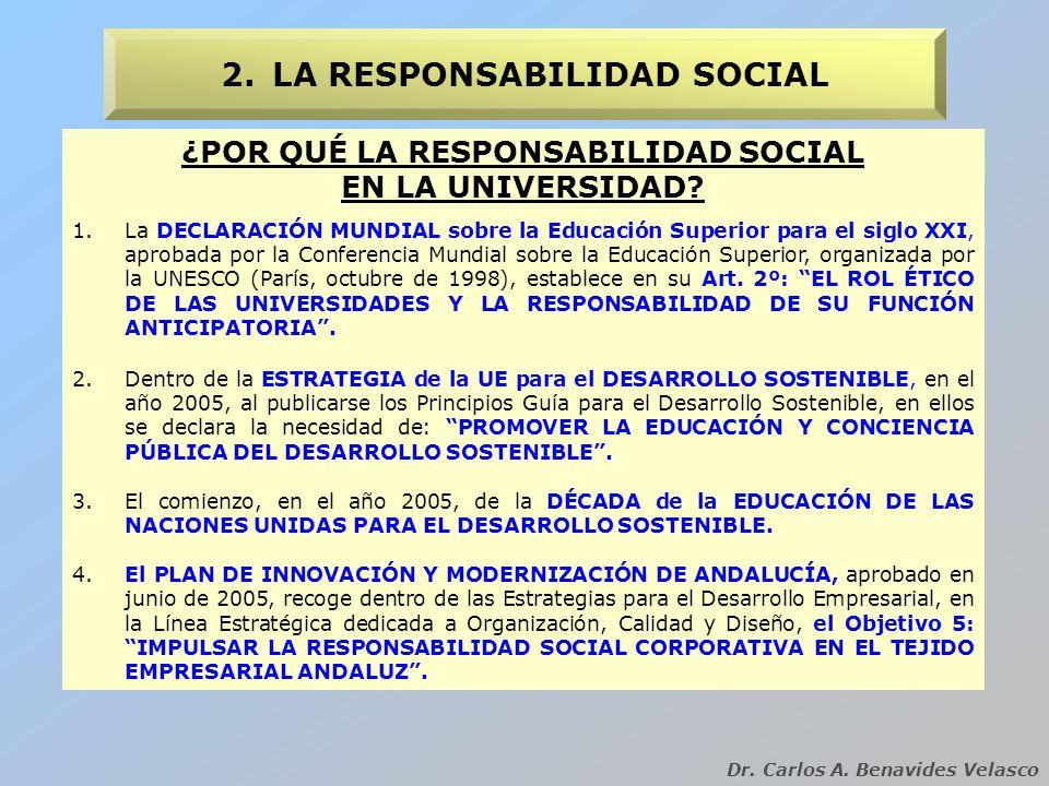 2. LA RESPONSABILIDAD SOCIAL ¿POR QUÉ LA RESPONSABILIDAD SOCIAL