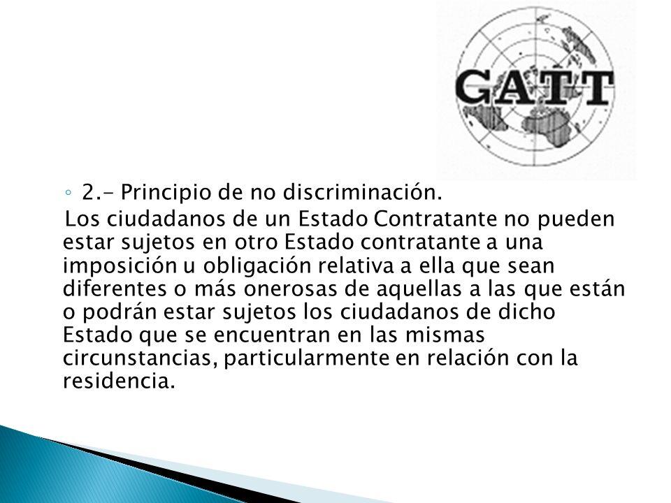 2.- Principio de no discriminación.