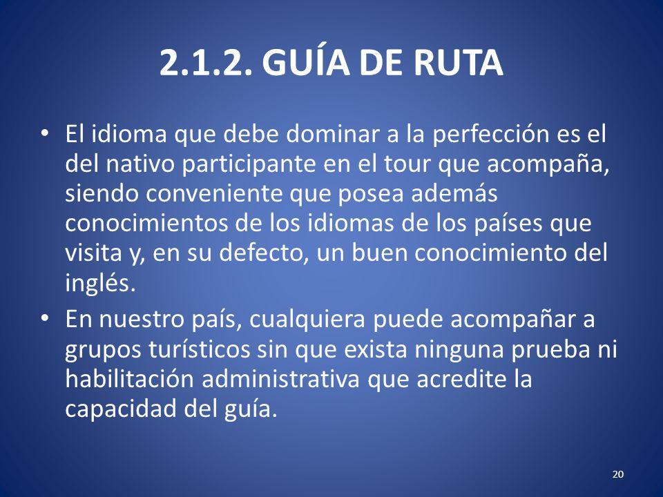 2.1.2. GUÍA DE RUTA