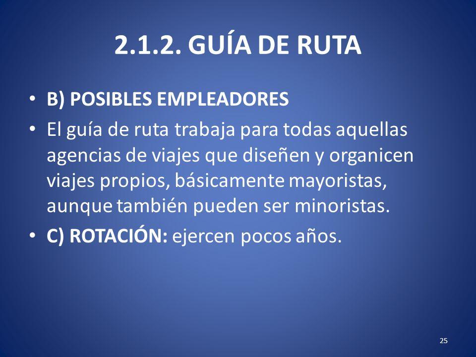 2.1.2. GUÍA DE RUTA B) POSIBLES EMPLEADORES