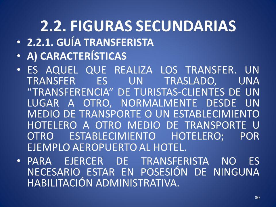 2.2. FIGURAS SECUNDARIAS 2.2.1. GUÍA TRANSFERISTA A) CARACTERÍSTICAS