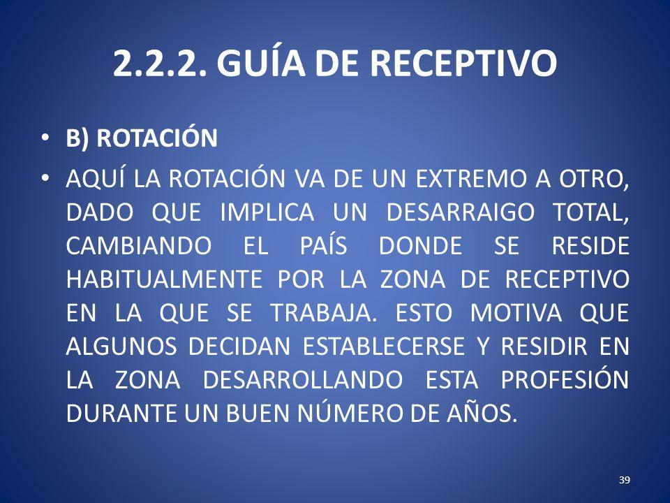 2.2.2. GUÍA DE RECEPTIVO B) ROTACIÓN