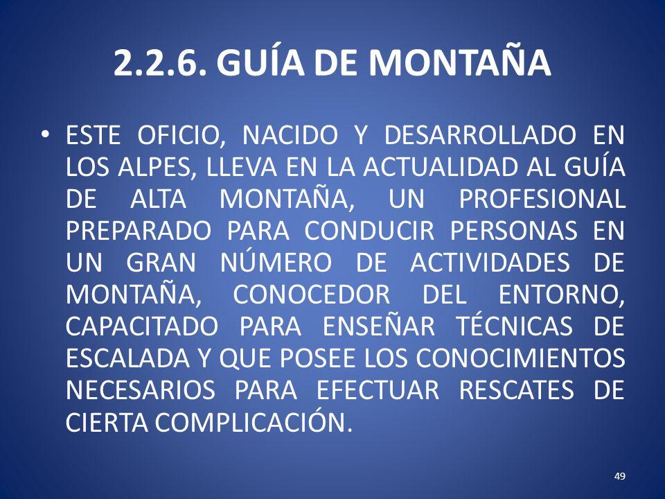 2.2.6. GUÍA DE MONTAÑA