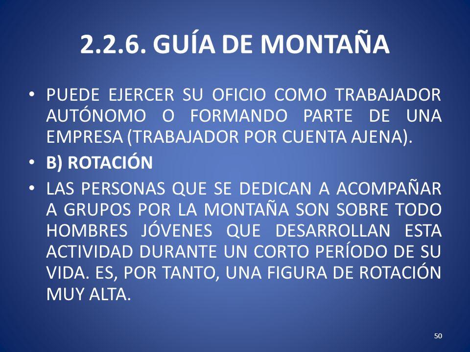 2.2.6. GUÍA DE MONTAÑA PUEDE EJERCER SU OFICIO COMO TRABAJADOR AUTÓNOMO O FORMANDO PARTE DE UNA EMPRESA (TRABAJADOR POR CUENTA AJENA).