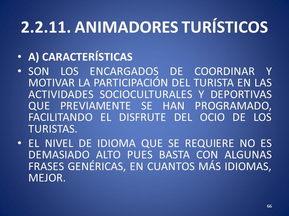 2.2.11. ANIMADORES TURÍSTICOS