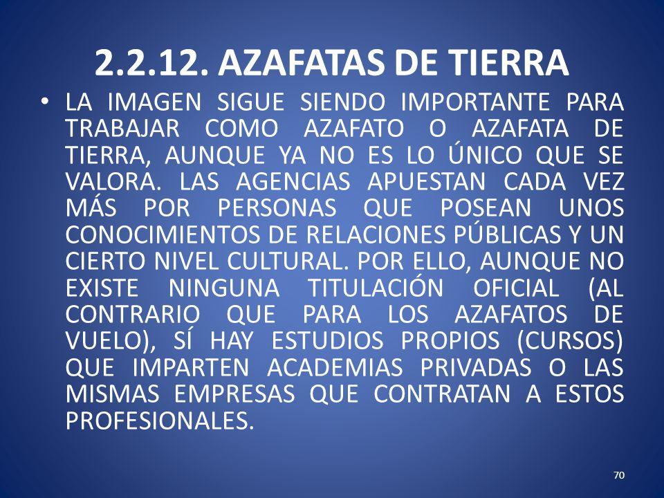 2.2.12. AZAFATAS DE TIERRA