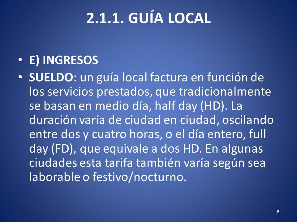 2.1.1. GUÍA LOCAL E) INGRESOS.