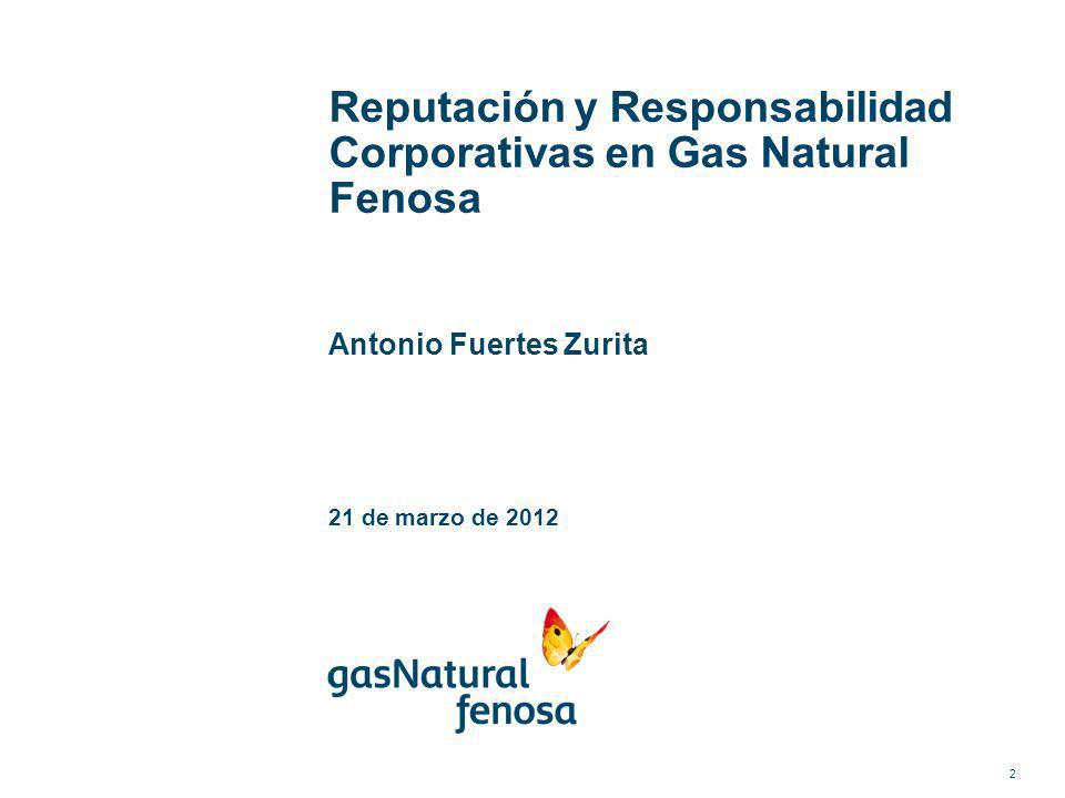Reputación y Responsabilidad Corporativas en Gas Natural Fenosa