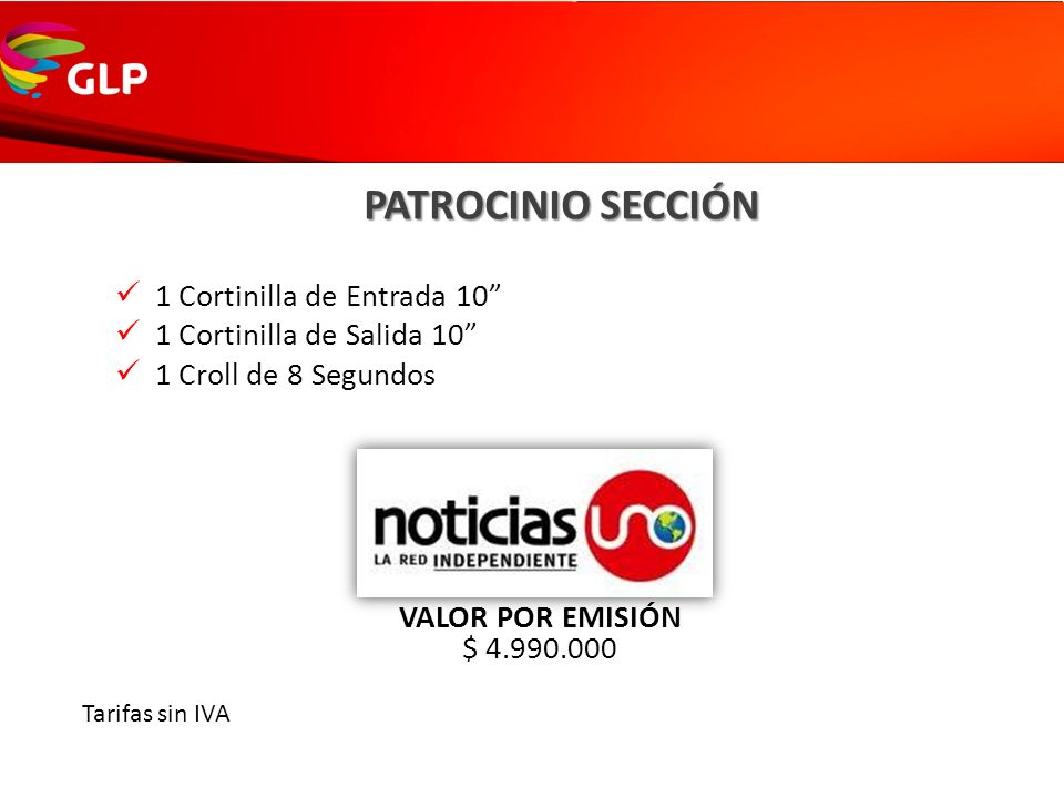 PATROCINIO SECCIÓN 1 Cortinilla de Entrada 10
