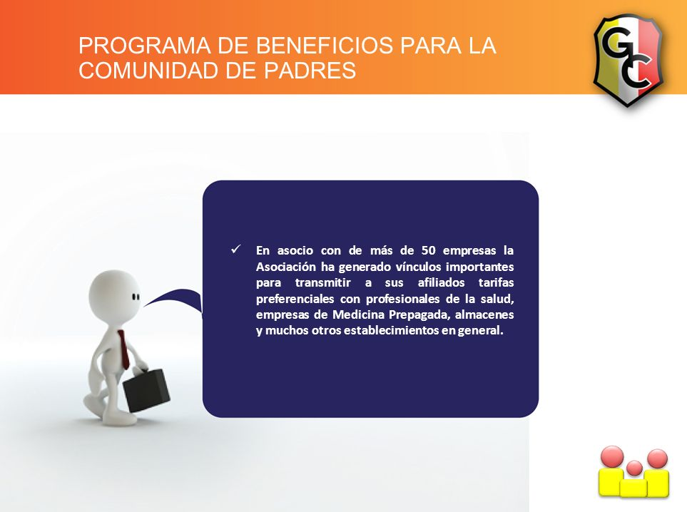 PROGRAMA DE BENEFICIOS PARA LA COMUNIDAD DE PADRES