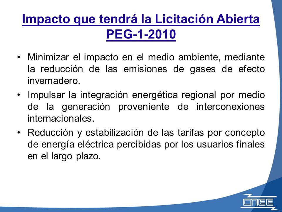 Características Generales de la Licitación PEG-1-2010