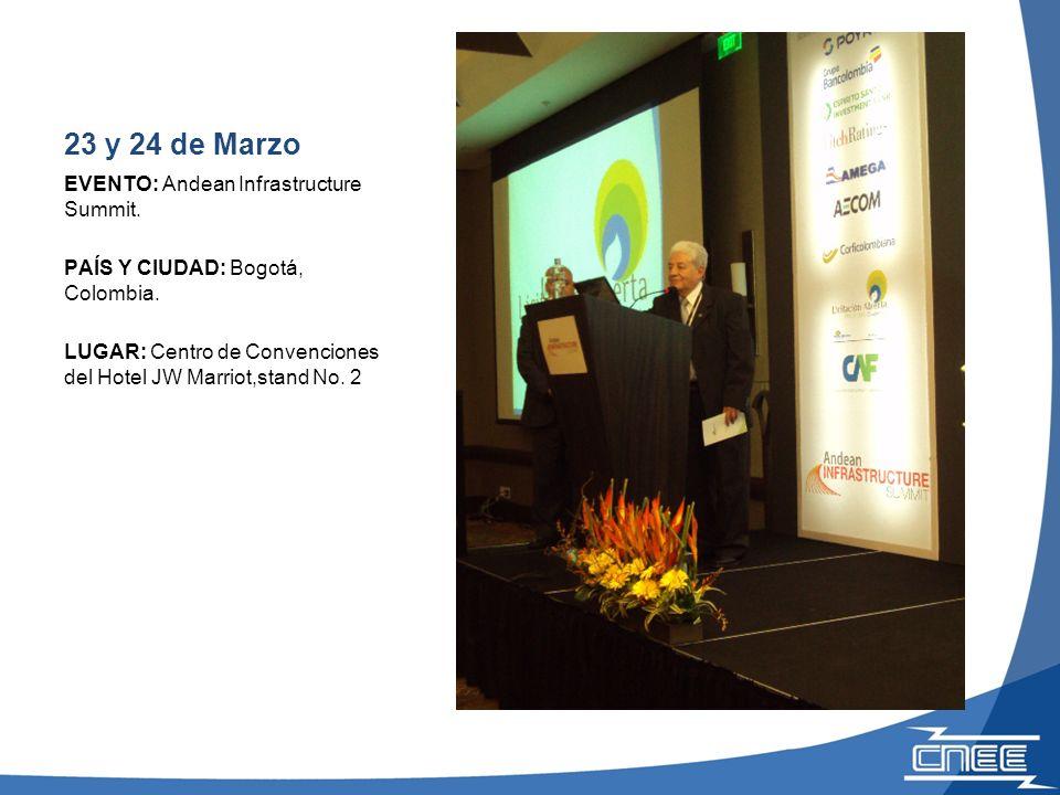 24 de Marzo EVENTO: Reunión de promoción del proyecto PEG-1-2010