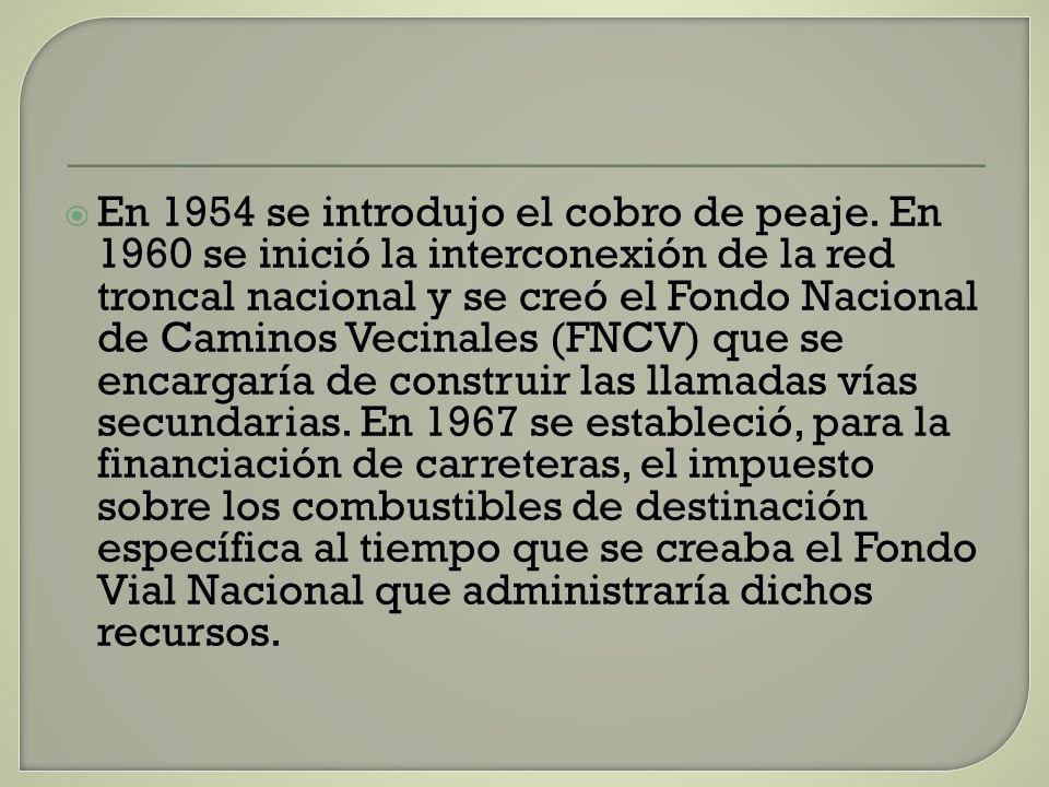 En 1954 se introdujo el cobro de peaje