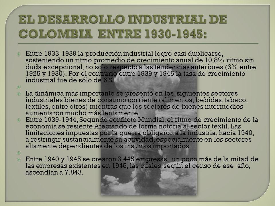 EL DESARROLLO INDUSTRIAL DE COLOMBIA ENTRE 1930-1945:
