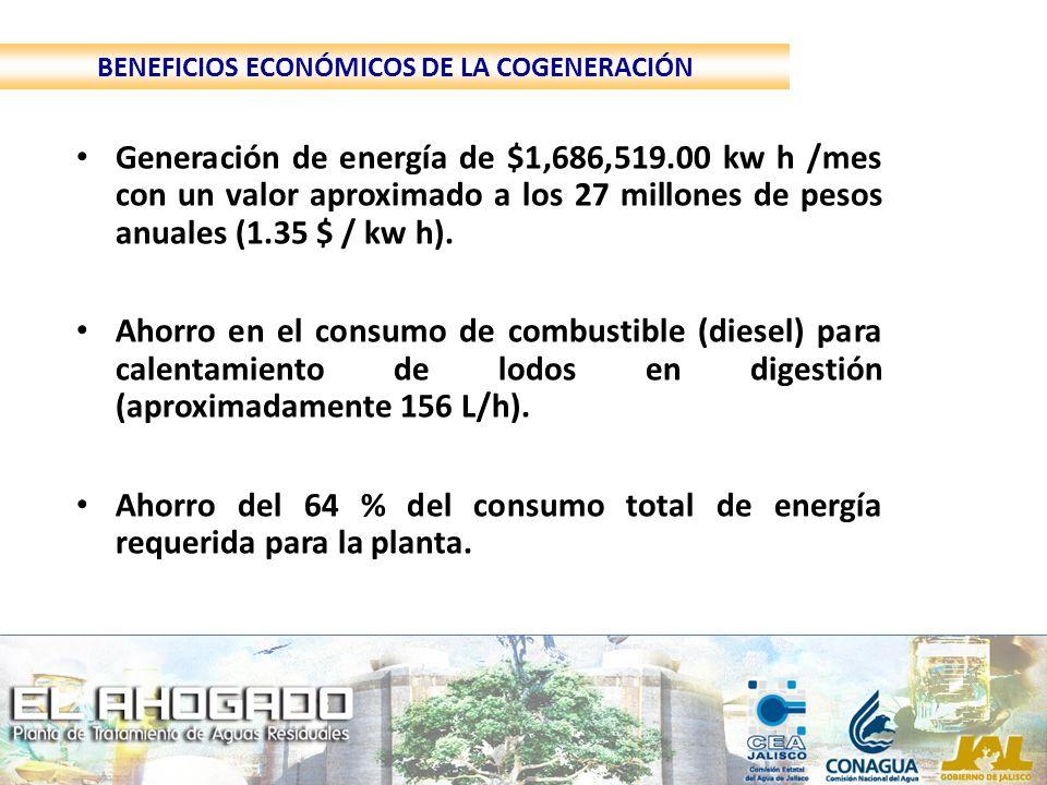 BENEFICIOS ECONÓMICOS DE LA COGENERACIÓN