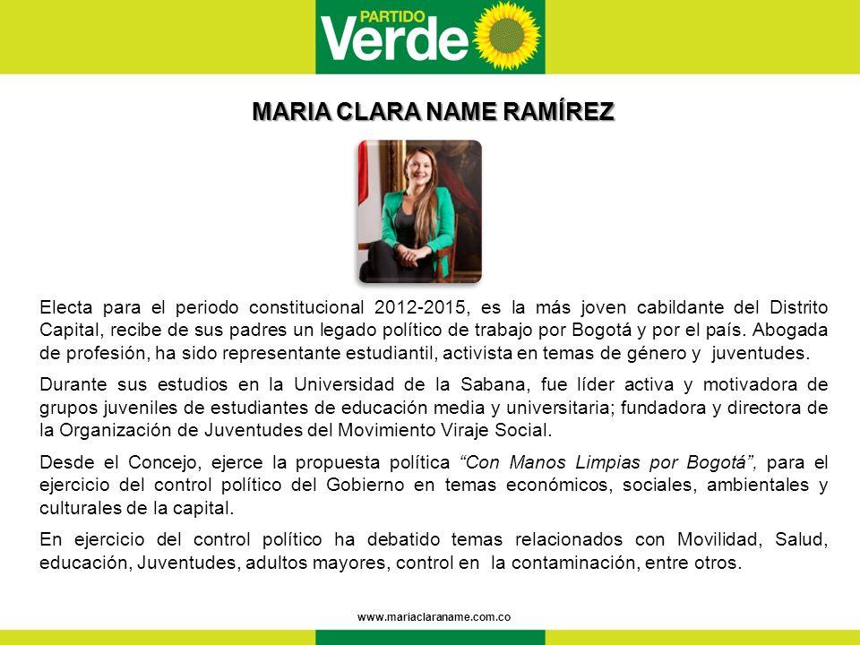 MARIA CLARA NAME RAMÍREZ
