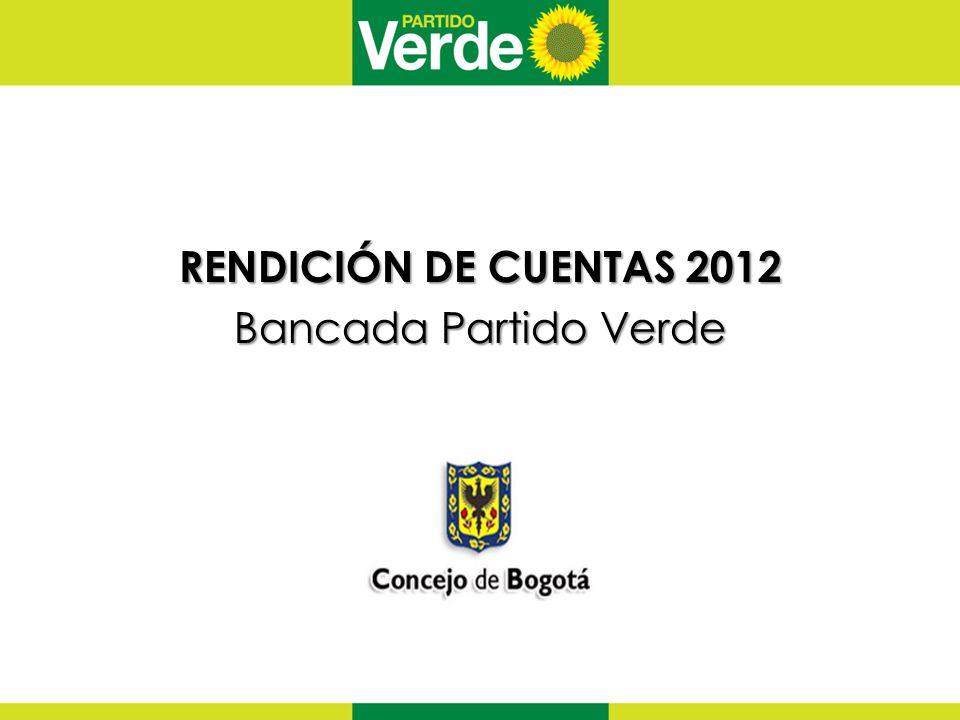 RENDICIÓN DE CUENTAS 2012 Bancada Partido Verde
