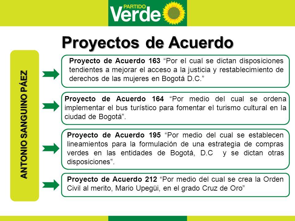 Proyectos de Acuerdo ANTONIO SANGUINO PÁEZ