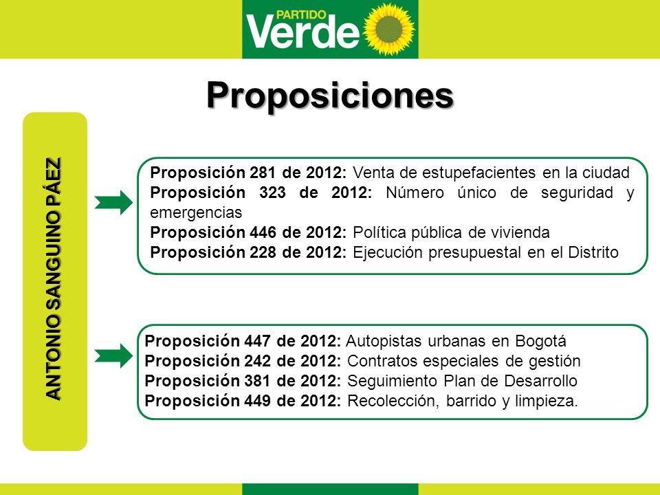 Proposiciones ANTONIO SANGUINO PÁEZ