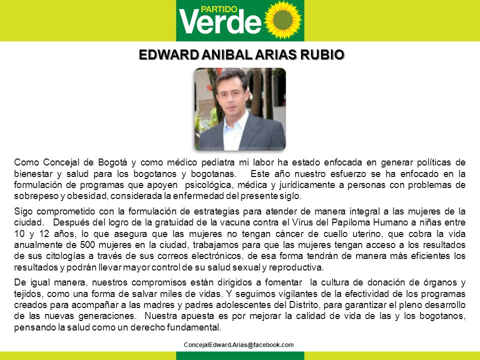 EDWARD ANIBAL ARIAS RUBIO