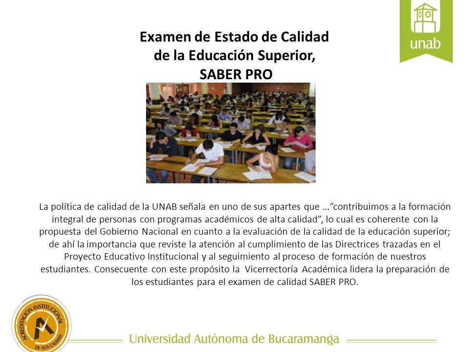 Examen de Estado de Calidad de la Educación Superior,