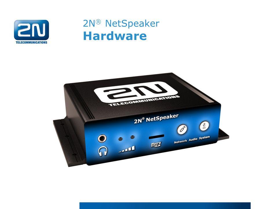 2N® NetSpeaker Hardware