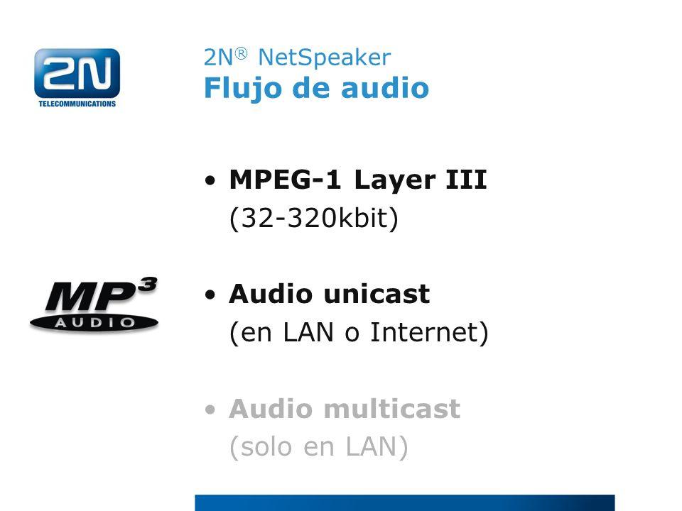 2N® NetSpeaker Flujo de audio