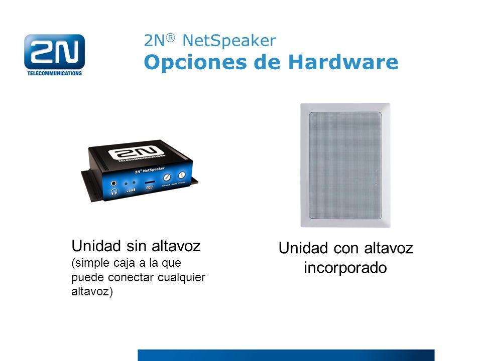 2N® NetSpeaker Opciones de Hardware