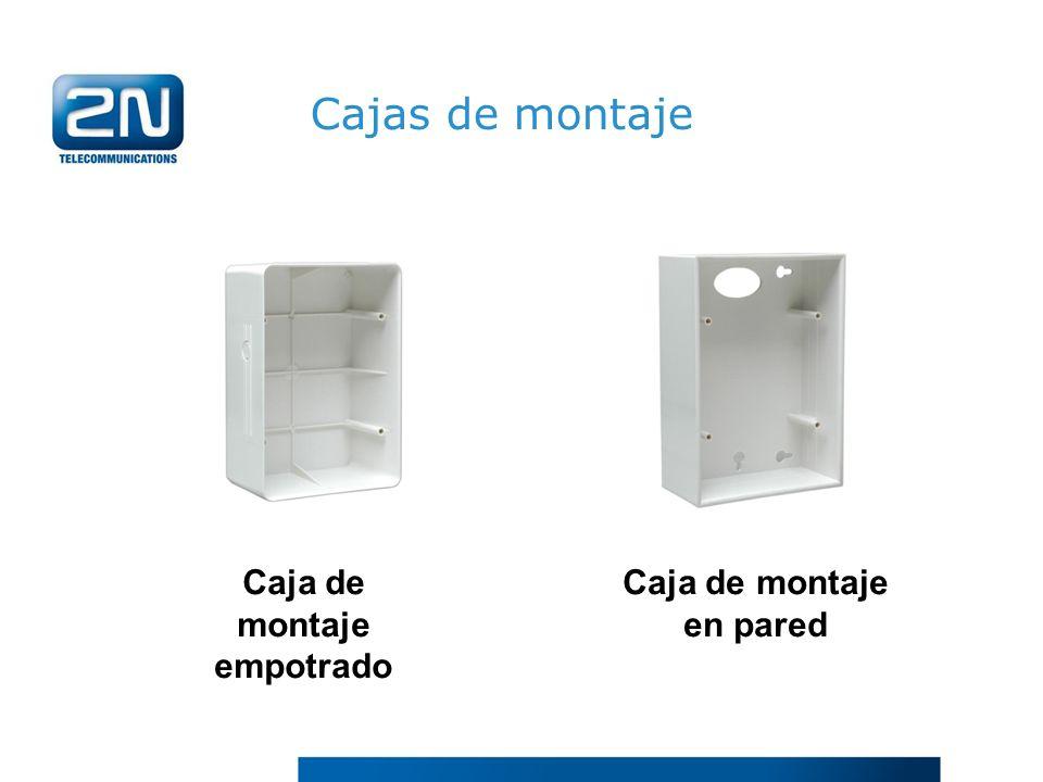 Caja de montaje empotrado Caja de montaje en pared