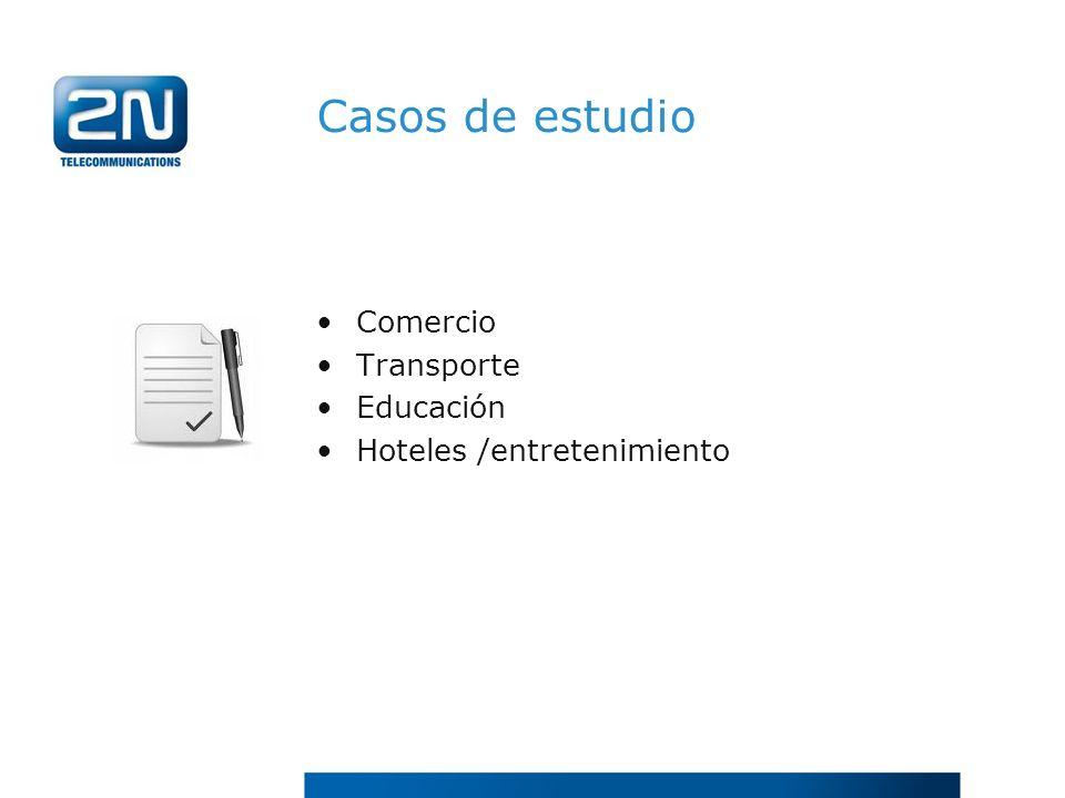 Casos de estudio Comercio Transporte Educación