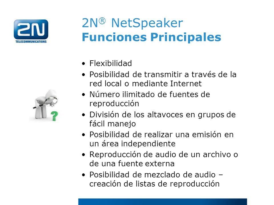 2N® NetSpeaker Funciones Principales