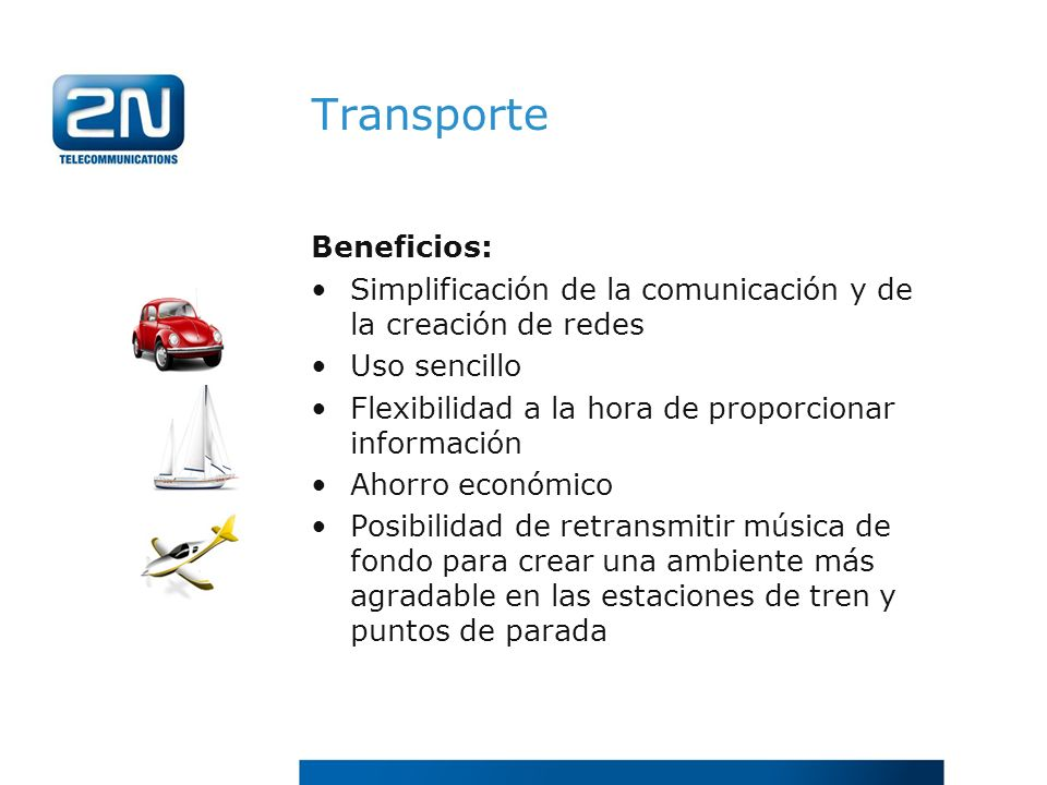 Transporte Beneficios: